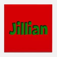 Jillian Red and Green Tile Coaster