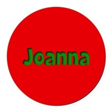 Joanna Red and Green Round Car Magnet