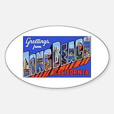 Long Beach California Oval Decal