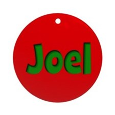Joel Red and Green Ornament (Round)
