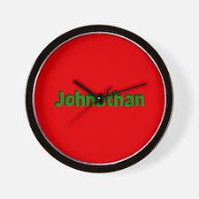 Johnathan Red and Green Wall Clock
