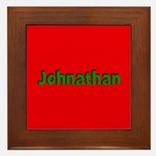 Johnathan Red and Green Framed Tile