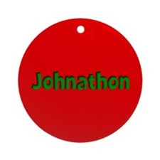 Johnathon Red and Green Ornament (Round)