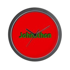 Johnathon Red and Green Wall Clock