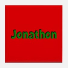 Jonathon Red and Green Tile Coaster