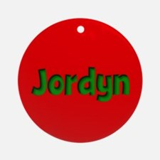 Jordyn Red and Green Ornament (Round)