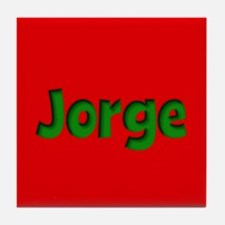 Jorge Red and Green Tile Coaster