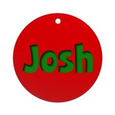Josh Red and Green Ornament (Round)