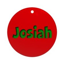 Josiah Red and Green Ornament (Round)