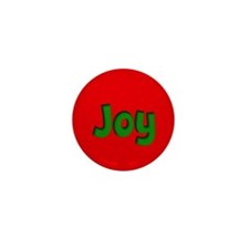 Joy Red and Green Mini Button (10 pack)