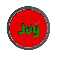 Joy Red and Green Wall Clock