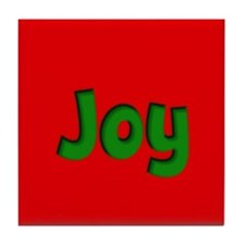 Joy Red and Green Tile Coaster