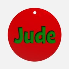 Jude Red and Green Ornament (Round)
