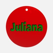 Juliana Red and Green Ornament (Round)