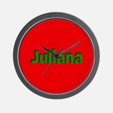 Juliana Red and Green Wall Clock