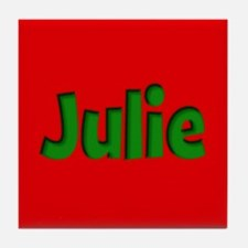 Julie Red and Green Tile Coaster