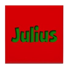 Julius Red and Green Tile Coaster
