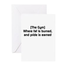 Fat burned, pride earned Greeting Cards (Pk of 20)