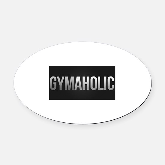 Gymaholic Oval Car Magnet