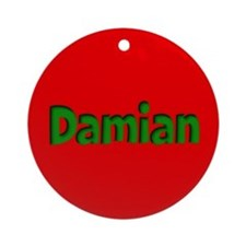 Damian Red and Green Ornament (Round)
