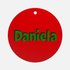 Daniela Red and Green Ornament (Round)