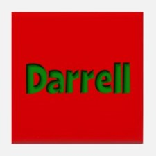 Darrell Red and Green Tile Coaster