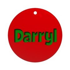 Darryl Red and Green Ornament (Round)