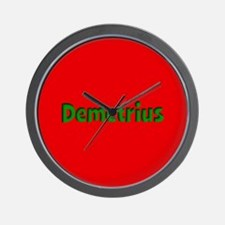Demetrius Red and Green Wall Clock