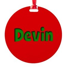 Devin Red and Green Ornament