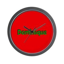 Dominique Red and Green Wall Clock