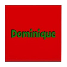 Dominique Red and Green Tile Coaster