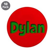 """Dylan Red and Green 3.5"""" Button (10 pack)"""