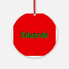 Eduardo Red and Green Ornament (Round)