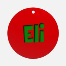 Eli Red and Green Ornament (Round)