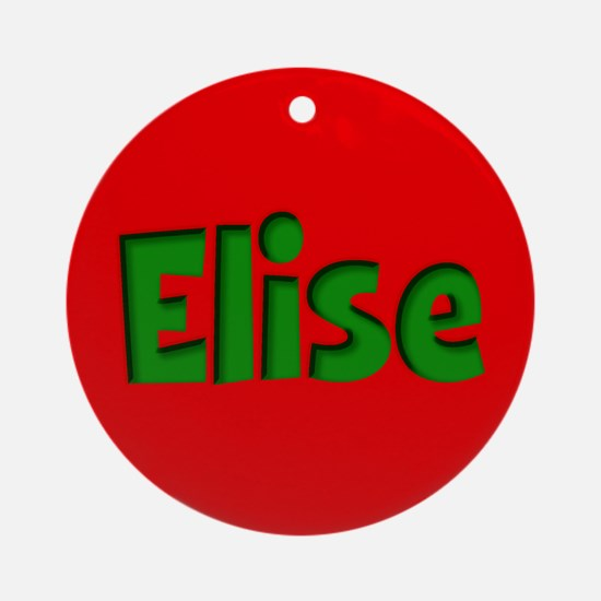 Elise Red and Green Ornament (Round)