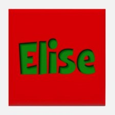 Elise Red and Green Tile Coaster