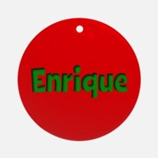 Enrique Red and Green Ornament (Round)