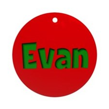 Evan Red and Green Ornament (Round)