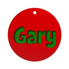 Gary Red and Green Ornament (Round)