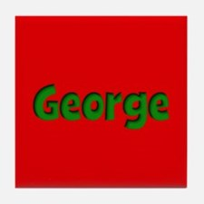 George Red and Green Tile Coaster