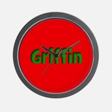 Griffin Red and Green Wall Clock