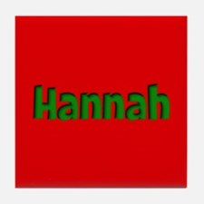 Hannah Red and Green Tile Coaster
