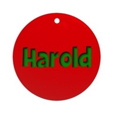 Harold Red and Green Ornament (Round)
