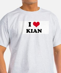 I HEART KIAN Ash Grey T-Shirt