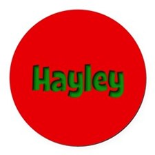 Hayley Red and Green Round Car Magnet