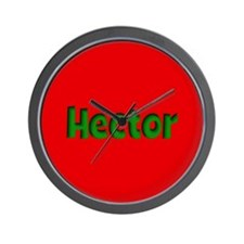 Hector Red and Green Wall Clock