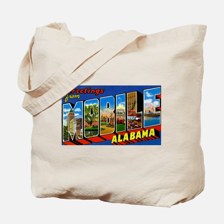 Mobile Alabama Greetings Tote Bag