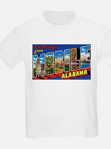 Mobile Alabama Greetings (Front) Kids T-Shirt