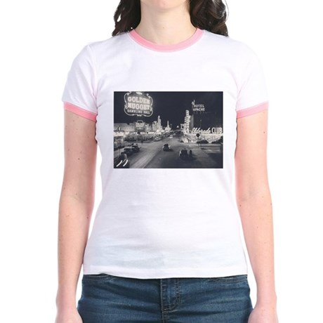 Downtown Las Vegas Retro Jr. Ringer T-Shirt