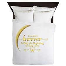 Moon Breaking Dawn dated I was There Queen Duvet